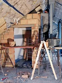 Foto vom Ausbau eines Dachgeschosses