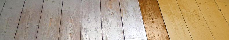 Foto teilrenovierter Fussboden